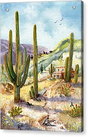 Acrylic Print featuring the painting My Adobe Hacienda by Marilyn Smith