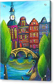 My Amsterdam Acrylic Print by Beryllium Canvas