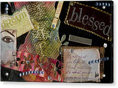 My Art Journal - Blessed Acrylic Print by Angela L Walker