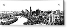 My Austin Skyline In Stamp Acrylic Print