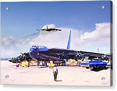 Acrylic Print featuring the digital art My Baby B-52 by Peter Chilelli