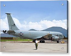 Acrylic Print featuring the digital art My Baby Kc-135 by Peter Chilelli