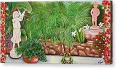 My Backyard Acrylic Print by Joni McPherson