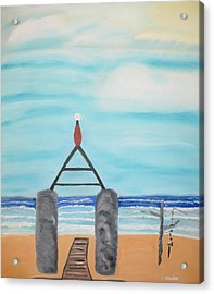 My Beach Acrylic Print by Edwin Long