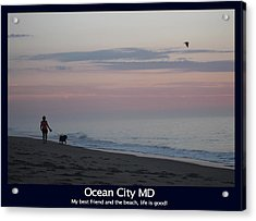 My Best Friend And The Beach Acrylic Print