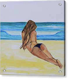 My Bikini Acrylic Print by Alexandra Talese