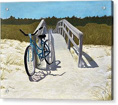 My Blue Bike Acrylic Print