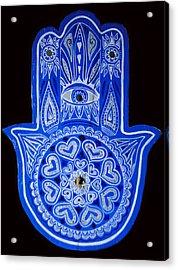 My Blue Hamsa Acrylic Print