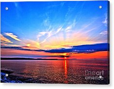 Acrylic Print featuring the photograph My Blue Heaven by Baggieoldboy