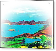 My Blue Heaven Number Three Acrylic Print by Scott Haley