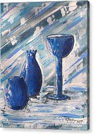 My Blue Vases Acrylic Print