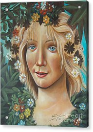 Acrylic Print featuring the painting My Botticelli by S G