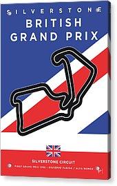My British Grand Prix Minimal Poster Acrylic Print