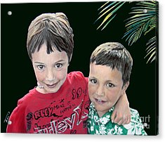 My Brother's My Pal Acrylic Print by Tobi Czumak