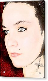 Acrylic Print featuring the digital art My Butterfly by Tbone Oliver