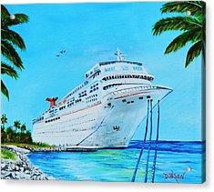 My Carnival Cruise Acrylic Print