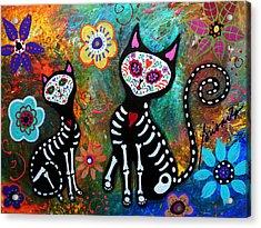 My Cats Dia De  Los Muertos Acrylic Print