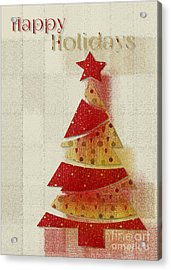 Acrylic Print featuring the digital art My Christmas Tree 02 - Happy Holidays by Aimelle