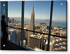 My City On The Bay Acrylic Print by Carl Purcell