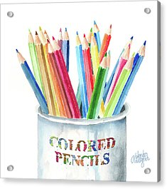 My Colored Pencils Acrylic Print by Arline Wagner