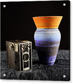 Acrylic Print featuring the photograph My Dad's Camera by Jeremy Lavender Photography