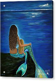 Acrylic Print featuring the painting My Darling Daughter by Leslie Allen