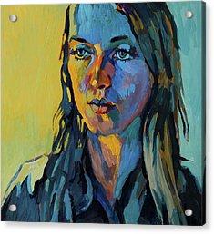 My Daughter Zosia Acrylic Print by Piotr Antonow