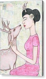 My Deer Acrylic Print by Natalie Briney