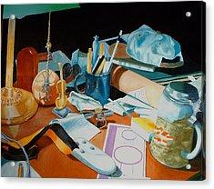 My Desk Acrylic Print by Michael Henderson