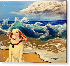 My Dog And The Sea #1 - Beagle Acrylic Print