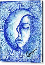 My Eclipse Acrylic Print by Agatha Green
