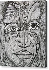 My Eyes Speak The Truth Acrylic Print by Anita Wexler