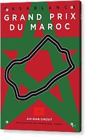 My F1 Casablanca Race Track Minimal Poster Acrylic Print