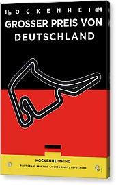 My F1 Germany Race Track Minimal Poster Acrylic Print