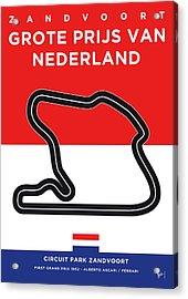 My F1 Zandvoort Race Track Minimal Poster Acrylic Print