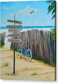 My Favorite Beaches Acrylic Print