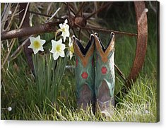 Acrylic Print featuring the photograph My Favorite Boots by Benanne Stiens