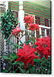 Acrylic Print featuring the painting My Favorite Corner by Jim Phillips