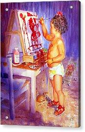 My Favorite Painter Acrylic Print by Estela Robles