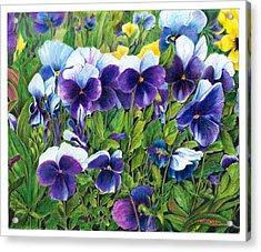 My Field Of Flowers Acrylic Print by Jeanette Schumacher