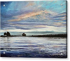 My First Sunset Acrylic Print by Elizabeth Robinette Tyndall