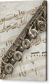 My Flute Photo Sketch Acrylic Print