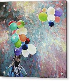 Acrylic Print featuring the painting My Friend The Wind. by Anastasija Kraineva