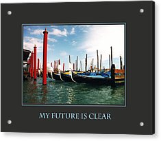My Future Is Clear Acrylic Print by Donna Corless