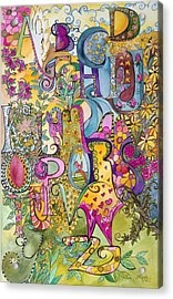 My Garden Acrylic Print by Claudia Cole Meek