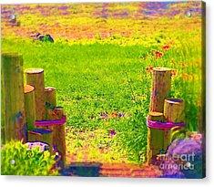 My Garden Dream Acrylic Print by Deborah Selib-Haig DMacq