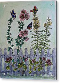 My Garden Acrylic Print by Kim Jones