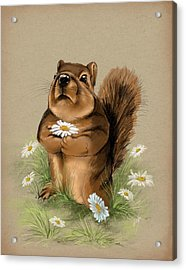 Acrylic Print featuring the painting My Gift For You by Veronica Minozzi