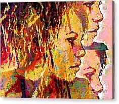 Acrylic Print featuring the digital art My Girl by Loko Suederdiek