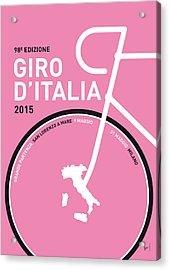 My Giro D'italia Minimal Poster 2015 Acrylic Print by Chungkong Art